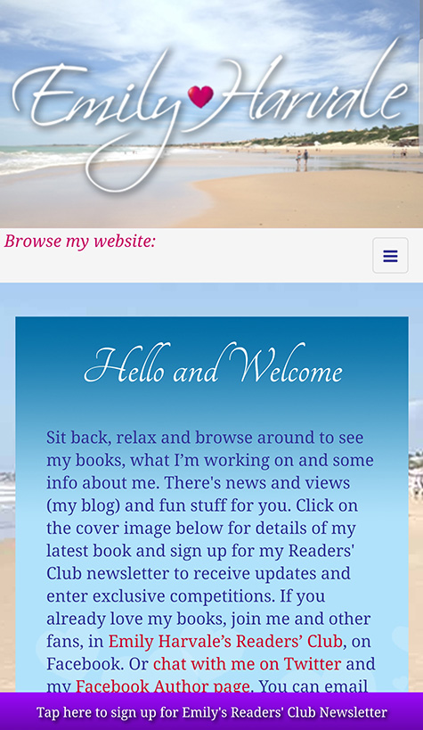 My new mobile friendly website